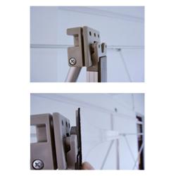Металлические рёбра с фиксаторами мобильного выставочного стенда Pop-up Magnumm Expolinc ECO