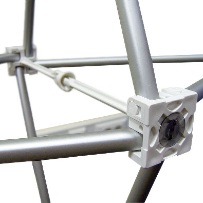 Пластиковые элементы для надёжного соединения тканевого зонтичного стенда Expand MediaFabric (экспанд медиа фабрик)