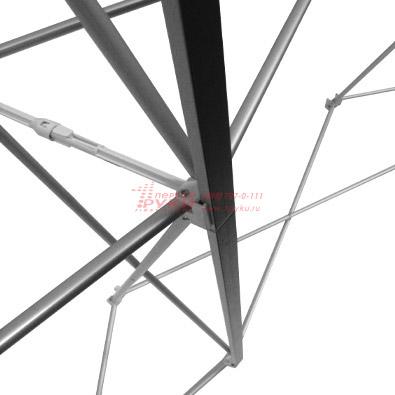 Крепление магнитной планки мобильного выставочного стенда Expand Media Wall